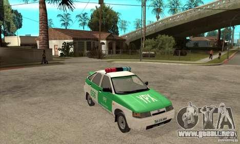 Policía YPX VAZ-2112 para GTA San Andreas vista hacia atrás