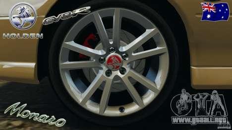 Holden Monaro CV8-R para GTA 4 vista superior