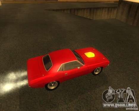 Plymouth Hemi Cuda para la visión correcta GTA San Andreas