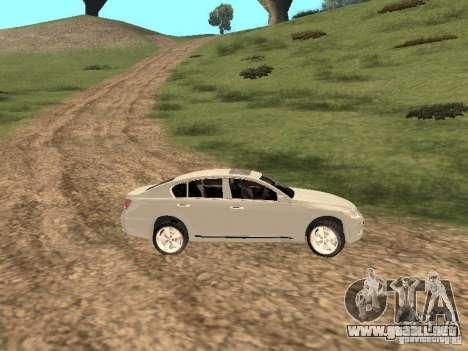 Lexus GS-350 para visión interna GTA San Andreas