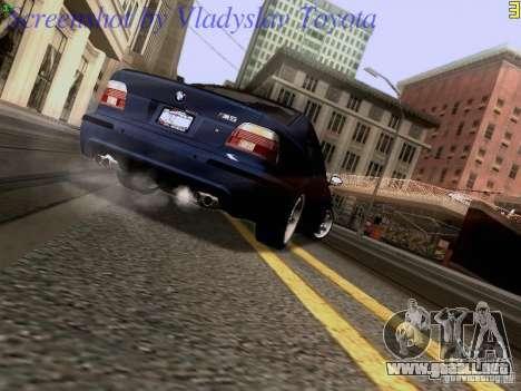 BMW E39 M5 2004 para visión interna GTA San Andreas