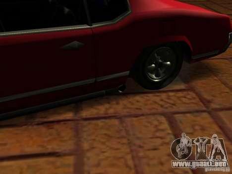Charger Sabre para GTA San Andreas vista hacia atrás
