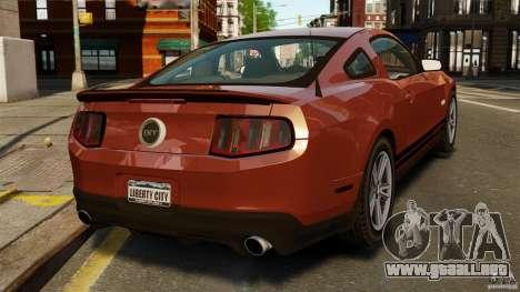 Ford Mustang GT 2011 para GTA 4 Vista posterior izquierda