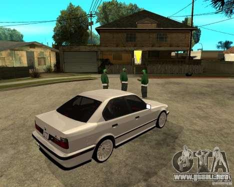 BMW M5 E34 para la visión correcta GTA San Andreas