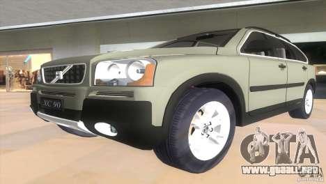 Volvo XC90 para GTA Vice City vista posterior