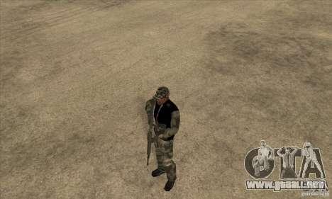 Ropa de camuflaje para GTA San Andreas segunda pantalla