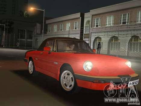 Alfa Romeo Spider 1986 para GTA Vice City visión correcta