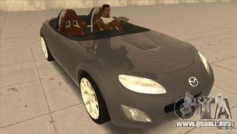Mazda MX5 Miata Superlight 2009 V1.0 para GTA San Andreas vista hacia atrás