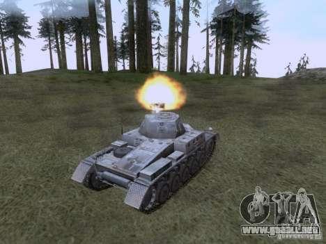 PzKpfw II Ausf.A para la visión correcta GTA San Andreas
