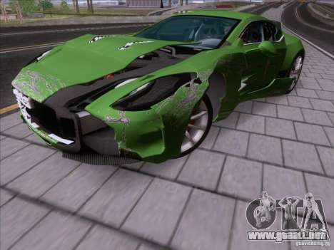Aston Martin One-77 2010 para la vista superior GTA San Andreas