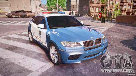 BMW X6M Police para GTA 4 vista interior