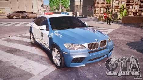 BMW X6M Police para GTA 4 vista interior