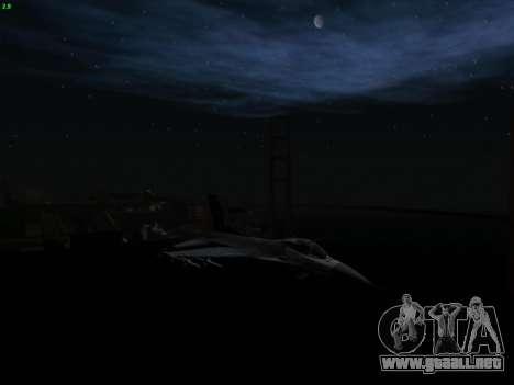 F-16C Warwolf para la visión correcta GTA San Andreas