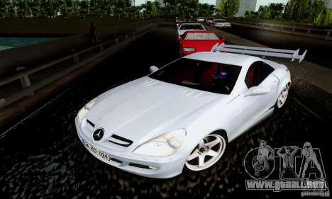 Mercedes-Benz SLK 55 AMG para GTA San Andreas vista hacia atrás