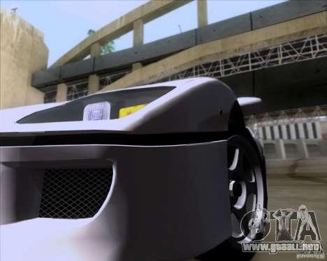 Ferrari F40 para visión interna GTA San Andreas