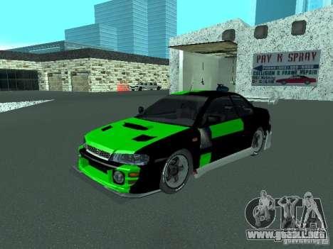 Subaru Impreza para las ruedas de GTA San Andreas