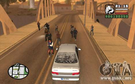 Resident Evil Dead Aim para GTA San Andreas segunda pantalla