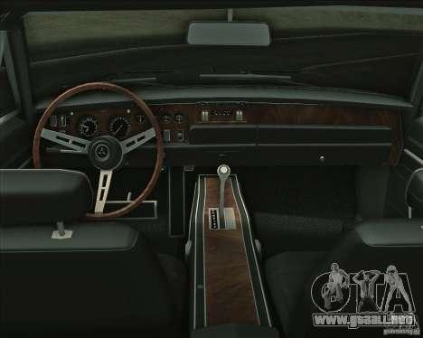 Dodge Charger RT 1969 para vista inferior GTA San Andreas