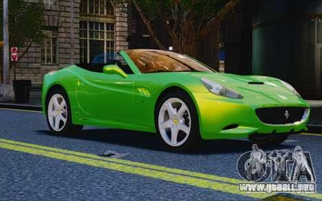 Ferrari California para GTA 4 visión correcta