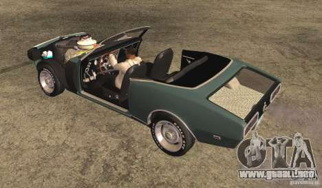 Chevrolet Camaro RS SS 396 1968 Convertible para visión interna GTA San Andreas