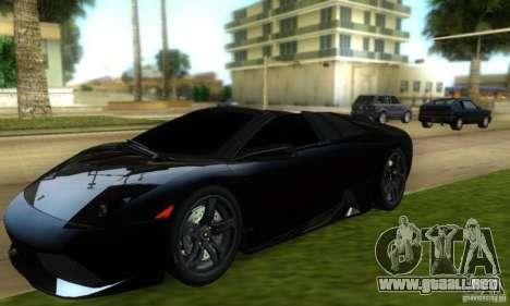 Lamborghini Murcielago LP640 Roadster para GTA Vice City vista lateral izquierdo