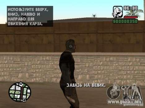 Zombe from Gothic para GTA San Andreas sexta pantalla