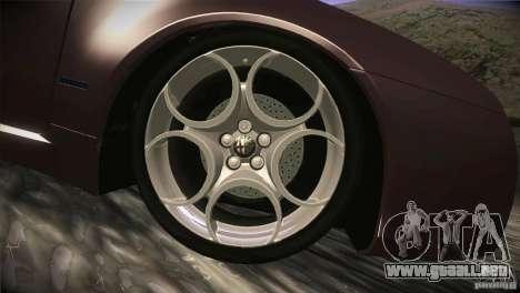 Alfa Romeo Brera Ti para vista inferior GTA San Andreas