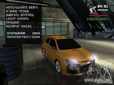 Opel Corsa Sport para GTA San Andreas vista hacia atrás