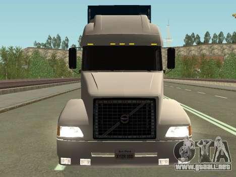 Volvo VNL para GTA San Andreas vista hacia atrás