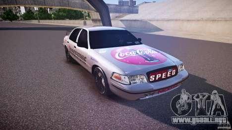 Ford Crown Victoria Tuning (Beta) para GTA 4 vista hacia atrás