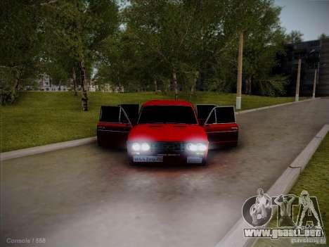 VAZ 2106 Pyatigorsk para GTA San Andreas vista hacia atrás
