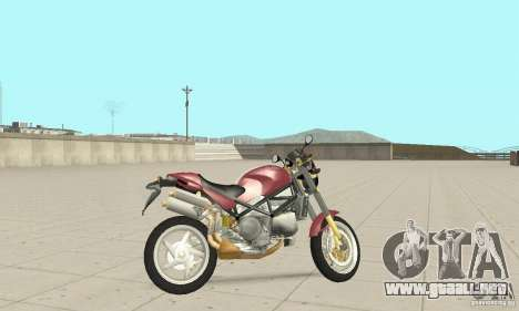 Ducati Monster S4R para GTA San Andreas vista posterior izquierda