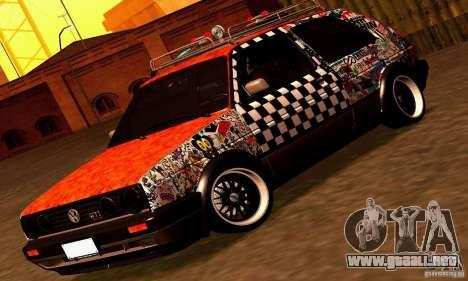Volkswagen MK II GTI Rat Style Edition para GTA San Andreas vista posterior izquierda