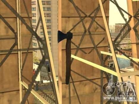 Hacha para GTA San Andreas sucesivamente de pantalla