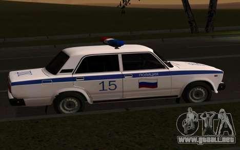 VAZ 2107 policía para GTA San Andreas left
