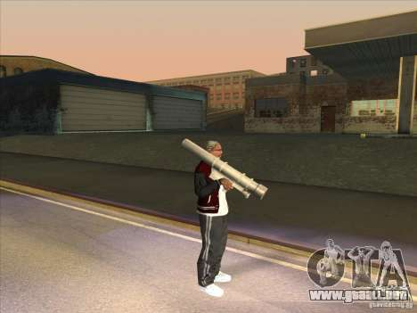 M72 LAW-Bazooka para GTA San Andreas sucesivamente de pantalla