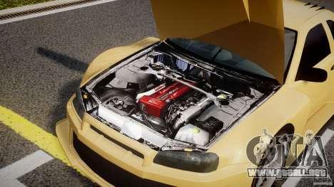 Nissan Skyline R34 v1.0 para GTA 4 visión correcta