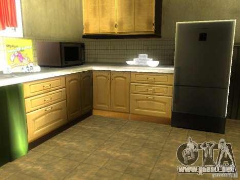 Nueva casa CJ para GTA San Andreas quinta pantalla