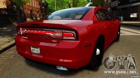 Dodge Charger RT Max FBI 2011 [ELS] para GTA 4 Vista posterior izquierda