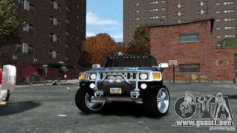 Hummer H3 2005 Chrome Final para GTA 4 visión correcta