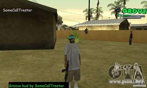 Grove Hud By SCT para GTA San Andreas tercera pantalla