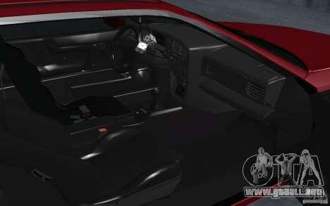Volkswagen Corrado para GTA San Andreas vista hacia atrás