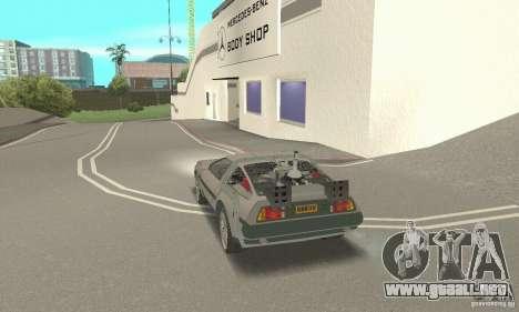 DeLorean DMC-12 (BTTF3) para GTA San Andreas left