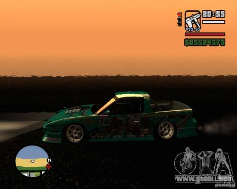 Nissan RPS13 Pick-Up Moscow Drift para GTA San Andreas left