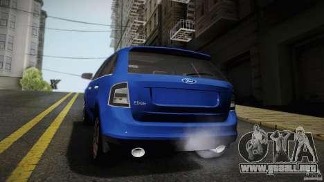 Ford Edge 2010 para GTA San Andreas vista posterior izquierda