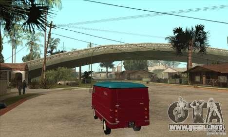 762 YERAZ en para GTA San Andreas vista posterior izquierda