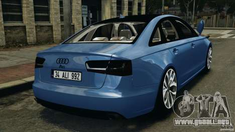 Audi A6 para GTA 4 Vista posterior izquierda