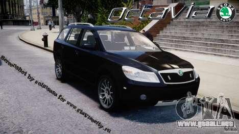 Skoda Octavia Scout Unmarked [ELS] para GTA 4