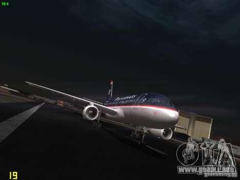 Airbus A319 USAirways para GTA San Andreas vista hacia atrás