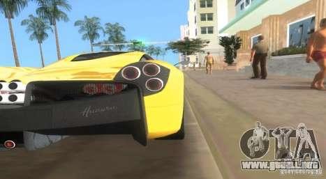 Pagani Huayra para GTA Vice City left